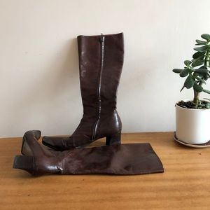 -Costume National Leather Boots